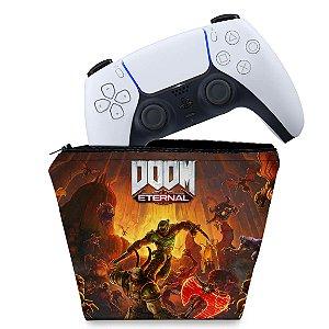 Capa PS5 Controle Case - Doom Eternal