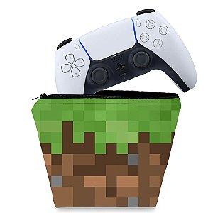 Capa PS5 Controle Case - Minecraft