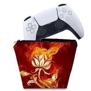 Capa PS5 Controle Case - Fire Flower