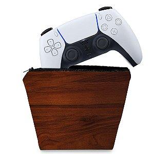 Capa PS5 Controle Case - Madeira