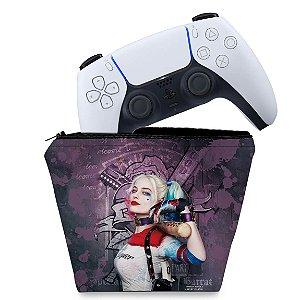 Capa PS5 Controle Case - Arlequina Harley Quinn