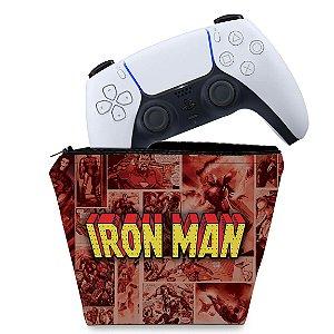 Capa PS5 Controle Case - Homem De Ferro Comics