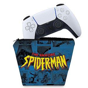 Capa PS5 Controle Case - Homem-Aranha Spider-Man Comics