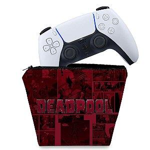 Capa PS5 Controle Case - Deadpool Comics
