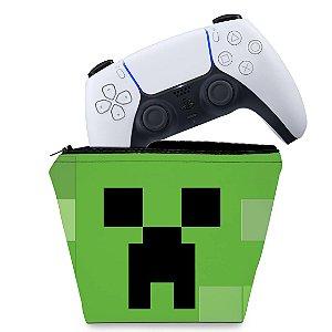 Capa PS5 Controle Case - Creeper Minecraft