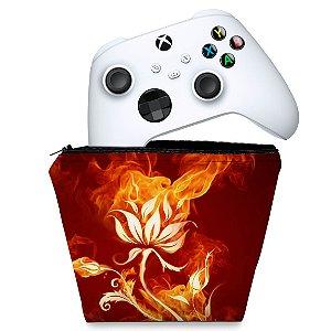 Capa Xbox Series S X Controle Case - Fire Flower