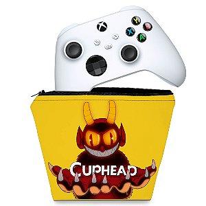 Capa Xbox Series S X Controle Case - Cuphead