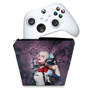 Capa Xbox Series S X Controle Case - Arlequina Harley Quinn