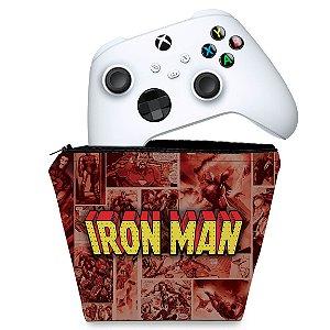 Capa Xbox Series S X Controle Case - Homem De Ferro Comics