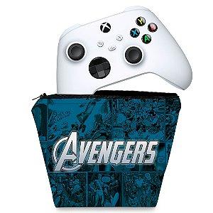 Capa Xbox Series S X Controle Case - Avengers Vingadores Comics