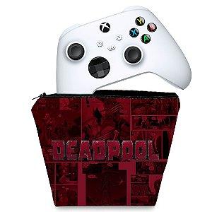 Capa Xbox Series S X Controle Case - Deadpool Comics