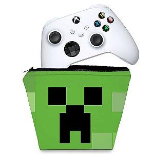 Capa Xbox Series S X Controle Case - Creeper Minecraft