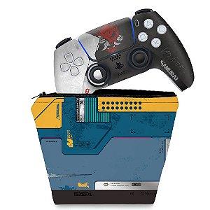 KIT Capa Case e Skin PS5 Controle - Cyberpunk 2077 Bundle