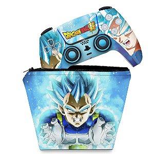 KIT Capa Case e Skin PS5 Controle - Dragon Ball Super