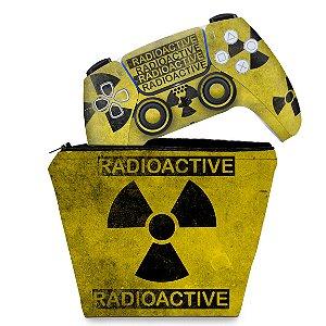 KIT Capa Case e Skin PS5 Controle - Radioativo