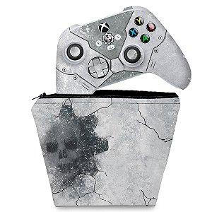 KIT Capa Case e Skin Xbox Series S X Controle - Gears 5 Bundle