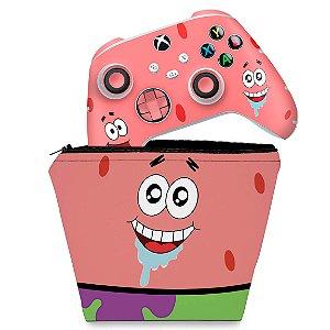 KIT Capa Case e Skin Xbox Series S X Controle - Patrick