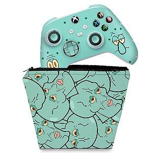 KIT Capa Case e Skin Xbox Series S X Controle - Lula Molusco