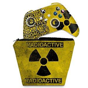 KIT Capa Case e Skin Xbox Series S X Controle - Radioativo