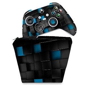 KIT Capa Case e Skin Xbox Series S X Controle - Cubos