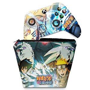 KIT Capa Case e Skin Xbox Series S X Controle - Naruto