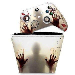 KIT Capa Case e Skin Xbox Series S X Controle - Fear The Walking Dead