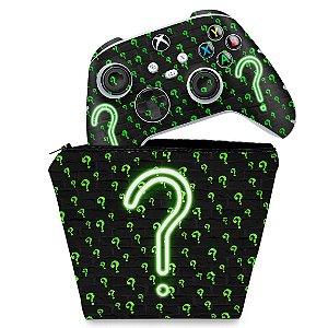 KIT Capa Case e Skin Xbox Series S X Controle - Charada