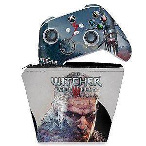 KIT Capa Case e Skin Xbox Series S X Controle - The Witcher 3
