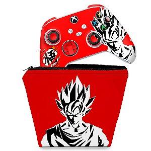 KIT Capa Case e Skin Xbox Series S X Controle - Dragon Ball Goku Kaiô