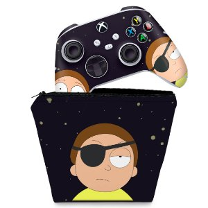 KIT Capa Case e Skin Xbox Series S X Controle - Morty Rick And Morty