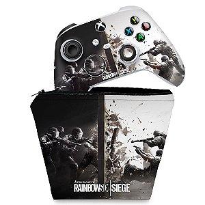 KIT Capa Case e Skin Xbox Series S X Controle - Tom Clancy's Rainbow Six Siege