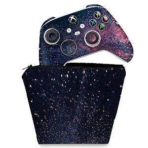 KIT Capa Case e Skin Xbox Series S X Controle - Abstrato #97