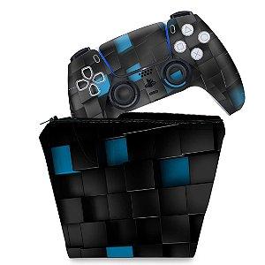KIT Capa Case e Skin PS5 Controle - Cubos