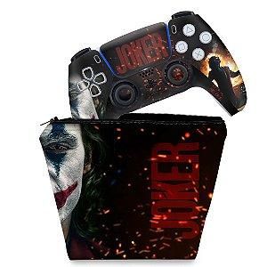 KIT Capa Case e Skin PS5 Controle - Joker Filme