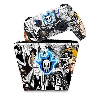 KIT Capa Case e Skin PS5 Controle - Bleach