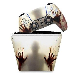 KIT Capa Case e Skin PS5 Controle - Fear The Walking Dead