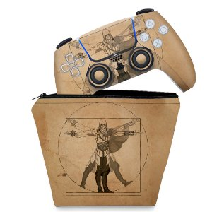 KIT Capa Case e Skin PS5 Controle - Assassin'S Creed Vitruviano