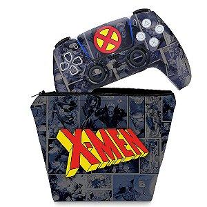 KIT Capa Case e Skin PS5 Controle - X-Men Comics