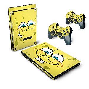 PS2 Slim Skin - Bob Esponja