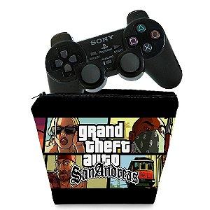 Capa PS2 Controle Case - GTA San Andreas