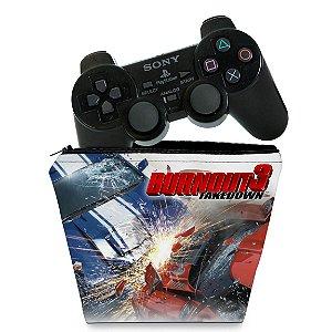 Capa PS2 Controle Case - Burnout 3