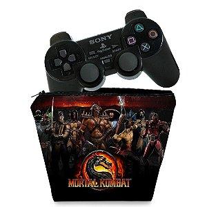 Capa PS2 Controle Case - Mortal Kombat