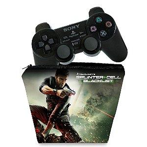 Capa PS2 Controle Case - Splinter Cell