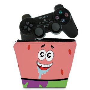 Capa PS2 Controle Case - Patrick Bob Esponja