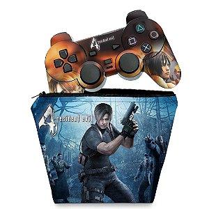 KIT Capa Case e Skin PS2 Controle - Resident Evil 4