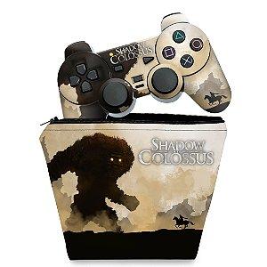 KIT Capa Case e Skin PS2 Controle - Shadow Colossus