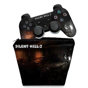 KIT Capa Case e Skin PS2 Controle - Silent Hill 2