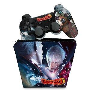 KIT Capa Case e Skin PS2 Controle - Devil May Cry 3