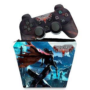 KIT Capa Case e Skin PS2 Controle - Final Fantasy VII