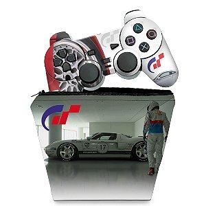 KIT Capa Case e Skin PS2 Controle - Gran Turismo 4